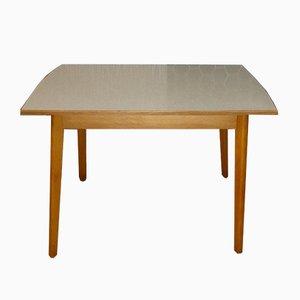 Mesa de cocina con tablero de formica y cajón, años 50