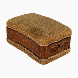 Scatola da cucito antica, fine XIX secolo