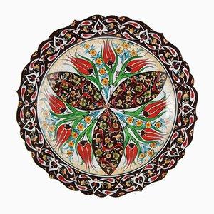 Dekorativer türkischer Iznik Teller, 1970er