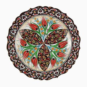 Turkish Iznik Decorative Plate, 1970s