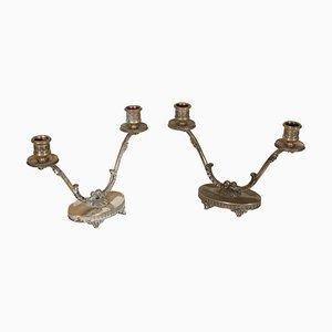 Antike Kerzenhalter, 1890er, 2er Set