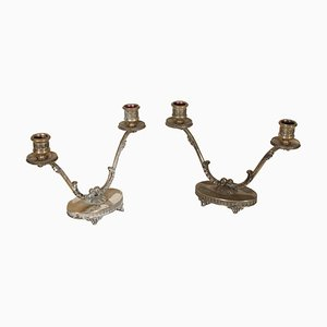 Antique Candle Holders, 1890s, Set of 2