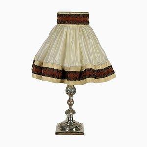 Lámpara de mesa antigua, década de 1800