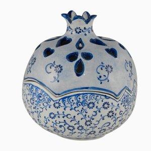 Jarrón turco decorativo de cerámica hecho a mano, años 70