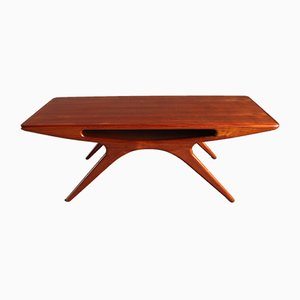 Danish Teak Smile Coffee Table by Johannes Andersen for CFC Silkeborg, 1950s