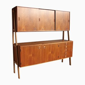 Danish Teak Sideboard with Oak Legs, 1960s
