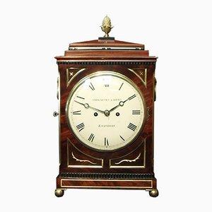 Reloj inglés georgiano de caoba de Thwaites & Reed, década de 1820