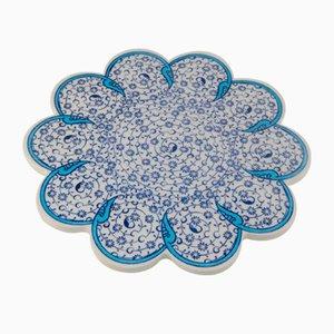 Posavasos turco vintage de cerámica hecho a mano, años 70