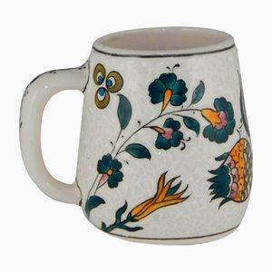 Tazza da caffè vintage dipinta a mano, Turchia, anni '70