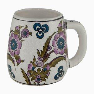 Taza de café turca grande de cerámica hecha a mano, años 70