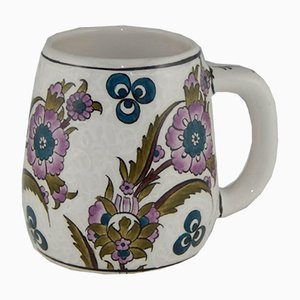 Tazza da caffè grande artigianale in ceramica, Turchia, anni '70
