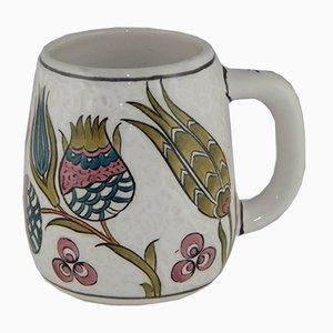 Tazza da caffè vintage in ceramica, Turchia, anni '70