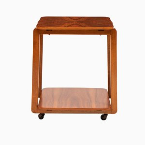 Art Deco Walnut Bar Cart, 1930s