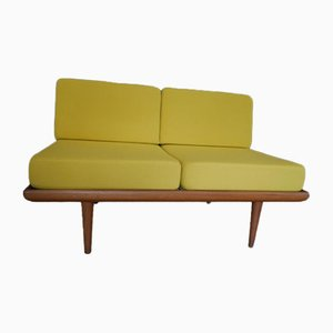 Mid-Century Teak and Yellow Sofa by Peter Hvidt & Orla Mølgaard-Nielsen for France & Søn, 1950s