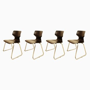 Stacking Chairs by Adam Stegner for Flötotto, 1970s, Set of 4