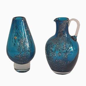 Vases Florida en Verre par Löffelhardt pour Zwiesel, 1970s, Set de 2