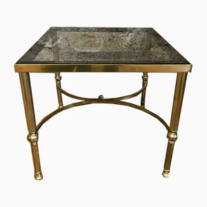 Vintage Regency Style Solid Brass Side Table, 1970s