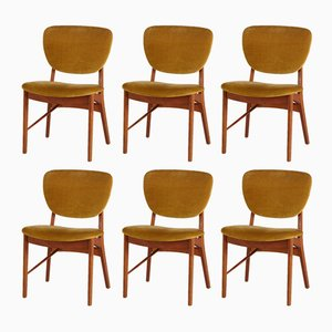 Mid-Century Teak Chairs from Niels Vodder, 1960s, Set of 6