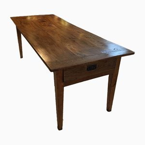 Antique French Elm Wood Table