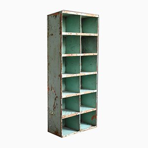Industrial Painted Metal Pigeon Hole Unit, 1950s
