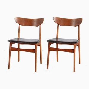 Mid-Century Stühle aus Teak von Schiønning & Elgaard, 1960er, 2er Set