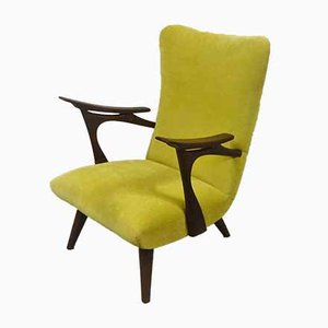 Mid-Century Wing Back Lounge Chair, 1950s