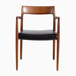 Modell 57 Armlehnstuhl aus Palisander von Niels Otto Møller für J.L. Møllers, 1960er