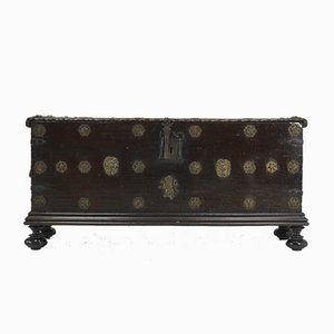 17th-Century Spanish Walnut Trunk