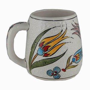 Taza de café turca vintage de cerámica, años 70