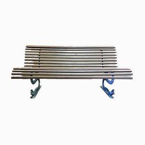 Vintage Sitzbank aus Holz & Metall, 1960er