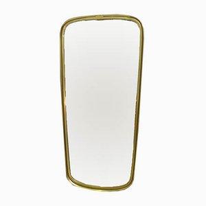 Mid-Century Italian Modern Brass Mirror, 1950s