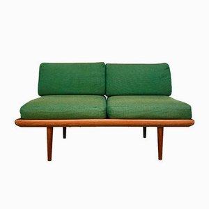 Dänisches Minerva 2-Sitzer Sofa mit Gestell aus Teak von Peter Hvidt & Orla Mølgaard-Nielsen für France & Son, 1960er