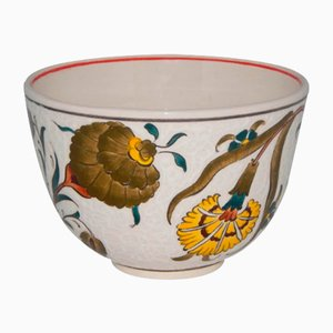 Vintage Turkish Hand-Painted Ceramic Fruit Bowl, 1970s