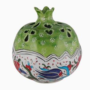 Dekorative türkische Keramikdose in Granatapfel-Optik, 1970er