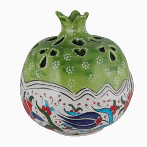 Handmade Turkish Ceramic Decorative Pomegranate Bowl, 1970s