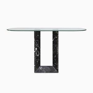 Table Console en Marbre Noir de Fontana Arte, Italie, 1980s