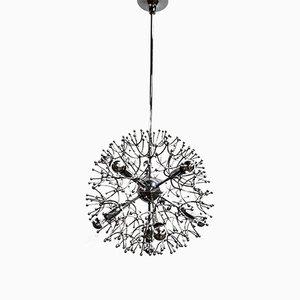 Lámpara de araña Sputnik de Gaetano Sciolari, años 70