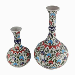 Turkish Ceramic Vases, 1970s, Set of 2