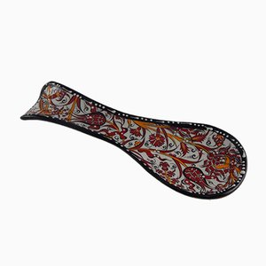 Handmade Turkish Chinaware Spoon Rest, 1970s