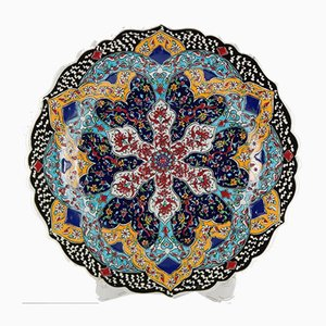 Turkish Decorative Ceramic Handcrafted Wall Plate or Platter, 1970s