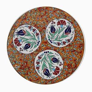 Plato decorativo turco de cerámica, años 70