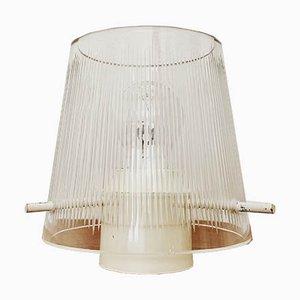 Lámpara de techo Mid-Century de cristal, años 50