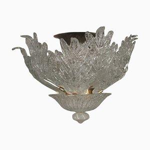 Lámpara de araña italiana vintage de cristal de Murano de Barovier & Toso, años 60