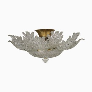 Vintage Italian Glass Chandelier from Barovier & Toso, 1970s