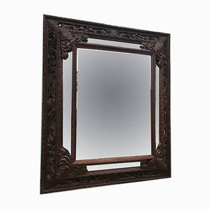 Antique Carved Wooden Mirror