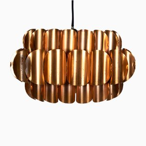 Lampe à Suspension en Cuivre par Thorsten Orrling pour Temde, Suisse, 1960s