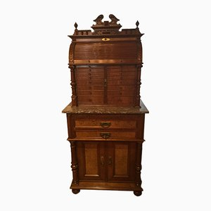 Antique Walnut Archer Dentist Cabinet