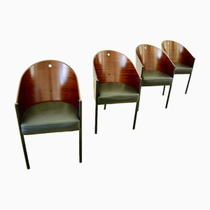 Costes Dining Chairs by Philippe Starck for Driade, 1990s, Set of 4