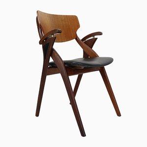 Silla danesa de teca de Arne Hovmand-Olsen para Mogens Kold, años 60