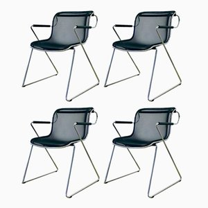 Penelope Dining Chairs by Charles Pollock, 1982, Set of 4